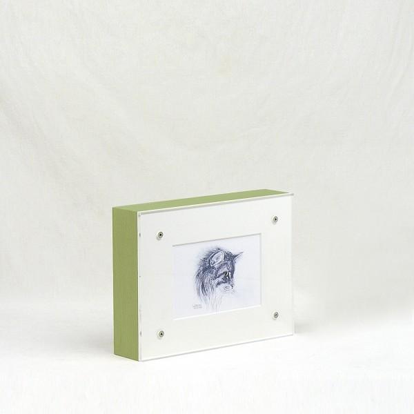 Bilderrahmen Urne aus Holz (grün lasiert)