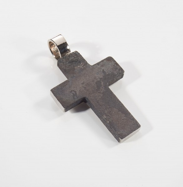 Letzter-Begleiter - Anhänger Kreuz in Edelstahl