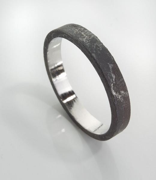Ring, Edelstahl, Innenseite poliert, 3mm