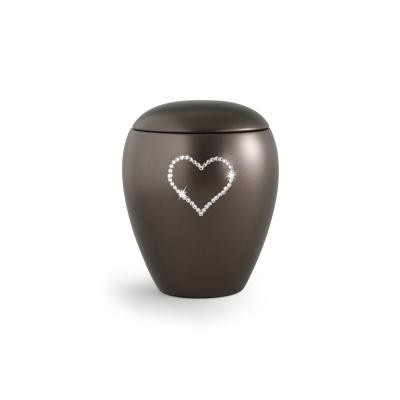 Keramikurne perlmutt chocolat